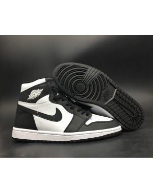 Air Jordan 1 Retro High Zwart/Wit Voor Heren
