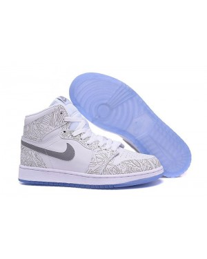 "Air Jordan 1 Retro High OG ""Laser"" wit/Metalen zilver voor heren"