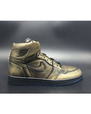 "Air Jordan 1 ""Wings"" Metalen goud/zwart voor heren"