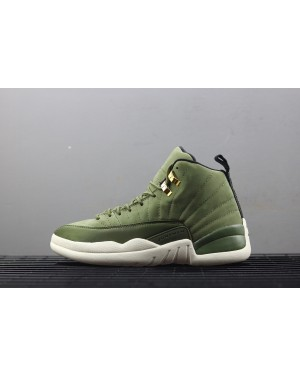 "Air Jordan 12 ""Graduation Pack"" Groen Wit Voor Heren NlAirJordan0231-21"