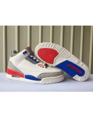 Air Jordan 3 'USA' Sail/Sport Royal-Fire Rood voor heren