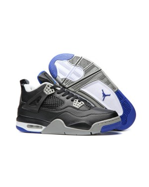 Air Jordan 4 'Game Royal' Zwart/Game Royal-Mat Zilver-Wit Voor Heren en Dames
