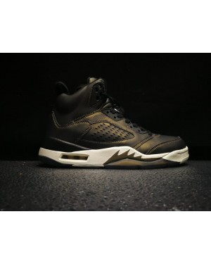 Air Jordan 5 Premium Heiress Zwart/Light Bone-Metalen Field voor heren en dames NlAirJordan0466-21