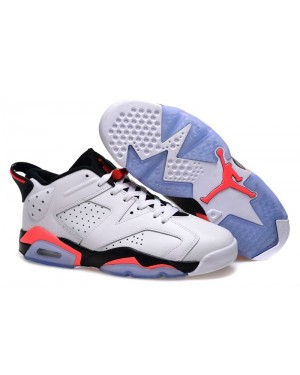 Air Jordan 6 Retro Low Wit/Infrarood 23-Zwart voor heren en dames
