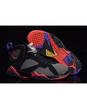 "Air Jordan 7 Retro ""Defining Moments"" Zwart/Dark Houtskool-True Rood voor heren"