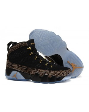 Air Jordan 9 'Doernbecher' Zwart/Metalen Goud-Wit Voor Heren