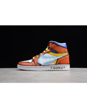"Off-White Air Jordan 1 High ""GOKU"" Enlighten Turtle 556298-006 Heren Dames"