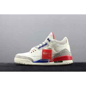 "Air Jordan 3 ""Charity Game"" Sail/Royal-Light Bone-Rood voor heren NlAirJordan0334-11"