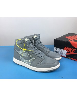 "Air Jordan 1 High OG ""Nike Air"" Cool Grijs/Sail voor heren NlAirJordan0074-10"
