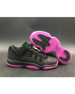 Air Jordan 11 Low Rook To Queen Zwart/Fuchsia Blast voor dames NlAirJordan0216-11