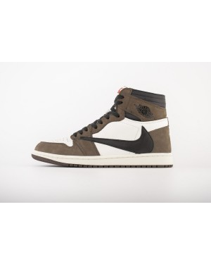 Travis Scott x Air Jordan 1 High OG TS SP Sail/Preto-Dark Mocha CD4487-100 Homens Mulheres PtAirJordan0962-21