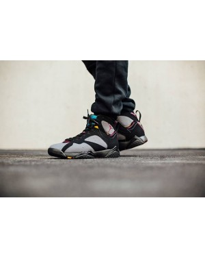 Air Jordan 7 Bordeaux Preto e Bordeaux-Light Graphite Homens PtAirJordan0575-21