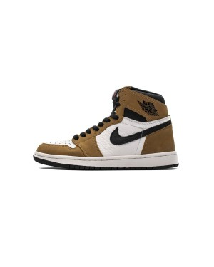 "Air Jordan 1 Retro OG High Ouro Harvest/Preto-Sail ""Estreante do Ano"" 555088-700 Homens"