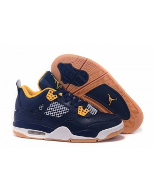 "Air Jordan 4 ""Dunk From Above"" Midnight Marinha/Varsity Maize Homens PtAirJordan0425-10"