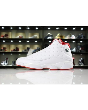 Air Jordan 13 'History of Flight' Blanco/Metálico Plata-Rojo universitario para Hombres