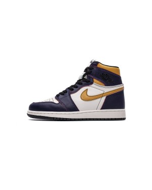 "Nike SB X Air Jordan 1 Retro High OG ""LA to Chicago"" Scratch Bege Morado CD6578-507 Hombres Mujeres EsAirJordan0977-21"