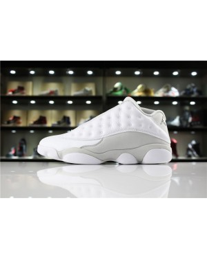 Air Jordan 13 Low Pure Money Blanco/Metálico Plata-Pure Platinum para Hombres EsAirJordan0252-11