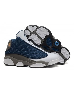 Air Jordan 13 (XIII) Retro French Azul/University Azul-Flint Gris Para Hombres EsAirJordan0251-11