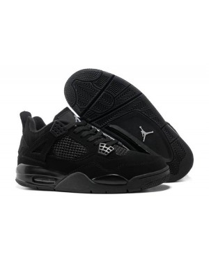 "Air Jordan 4 Retro ""Negro Cat"" Negro/Negro-Light Graphite para Hombres EsAirJordan0420-10"