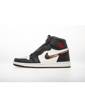 "Air Jordan 1 Retro High OG ""Sports Illustrated"" Negro Blanco 555088-015 Hombre Mujer EsAirJordan0973-11"