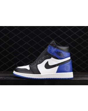 Fragment x Air Jordan 1 Retro High OG Royal Negro Toe para hombre EsAirJordan0113-10