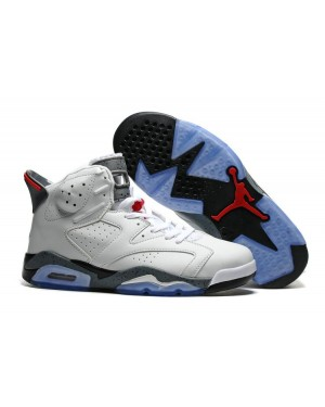 Air Jordan 6 'First Championship' White Blue and Red For Men
