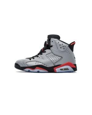 "Air Jordan 6 Retro ""Reflections of a Champion"" 3M Reflective Infrared Silver/Black CI4072-001 Men"