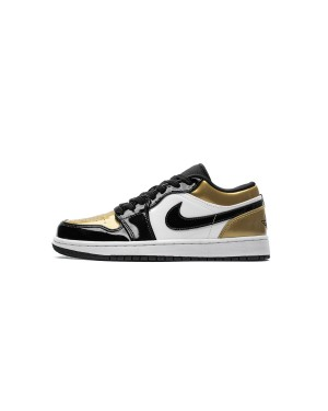 "Air Jordan 1 Low ""Black Gold Toe"" CQ9447-700 Men"