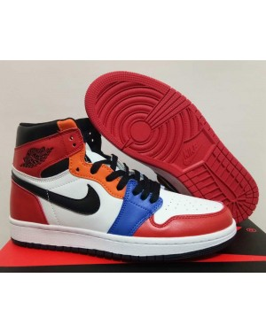 """Air Jordan 1 """"What The"""" Red/White-Orange-Blue For Men and Women"""