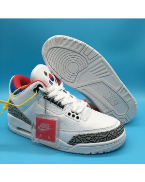 Air Jordan 3 'Seoul' White/Soar-Atom Red For Men