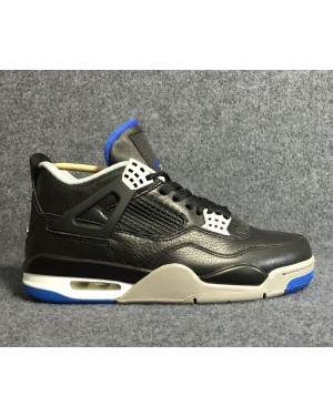 Air Jordan 4 Black/Game Royal-Matte Silver-White For Men and Women AirJordan0421-21