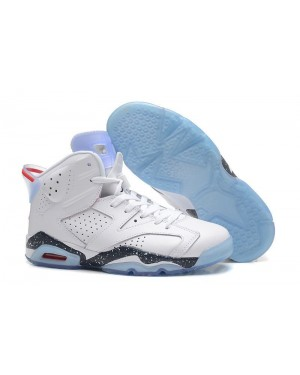 """Air Jordan Retro 6 """"First Championship"""" White-Navy Speckled For Men and Women"""