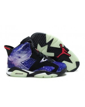 "Air Jordan Retro 6 ""Galaxy"" Glow in the Dark For Men and Women"