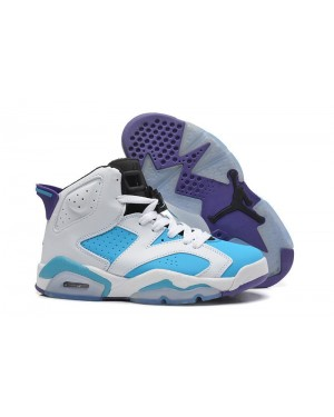 Air Jordan Retro 6 White Blue Purple For Men and Women