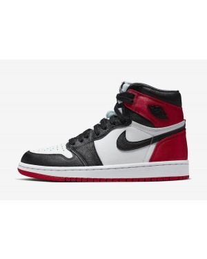 "Air Jordan 1 High Satin ""Black Toe"" CD0461-016 Men Women"