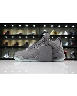 KAWS x Air Jordan 4 Cool Grey/White For Men and Women AirJordan0436-21