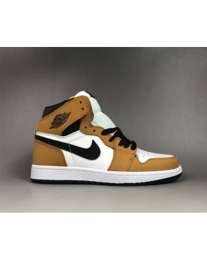 Air Jordan 1 Retro High OG Rookie of the Year Gold Harvest/Black For Men AirJordan0089-10