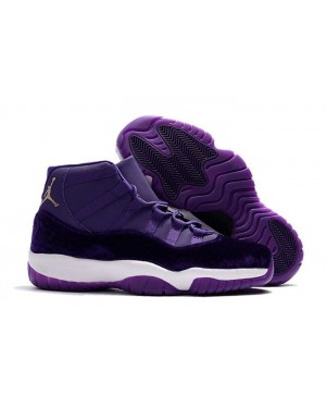 Air Jordan 11 Purple Velvet/White-Gold For Men and Women AirJordan0184-11