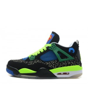 Air Jordan 4 Doernbecher Black/Old Royal-Electric Green-White For Men and Women AirJordan0397-11