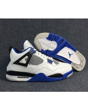 Air Jordan 4 Motorsport White/Game Royal-Black For Men and Women AirJordan0401-11