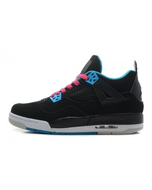 "Air Jordan 4 Retro ""South Beach"" Black/Dynamic Blue-White-Pink For Men and Women AirJordan0407-11"