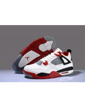 Air Jordan IV (4) Fire Red White/Varsity Red-Black For Men and Women AirJordan0433-11