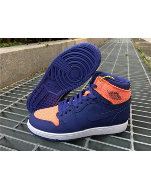 Air Jordan 1 High Retro GS Dark Pourpre Orange Pour Femme