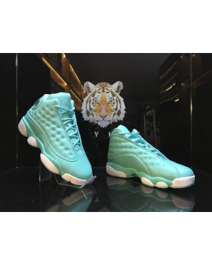 Air Jordan 13 GS 'What Is Love' Vert Blanche Pour Femme