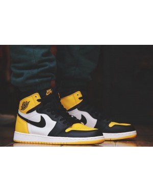 "Air Jordan 1 Retro OG High AJ1 ""Jaune Toe"" AR1020-700 Hommes"