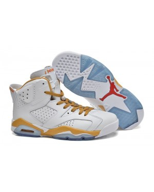 "Air Jordan 6 Retro ""d'or Moments Package"" Blanche Métallique Or Pour Homme"