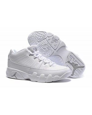 Air Jordan 9 (IX) Retro Low Blanche/Blanche - Chrome Pour Homme