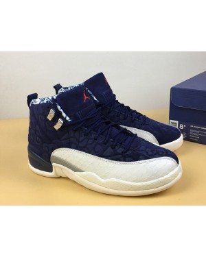 "Air Jordan 12 ""International Pack"" College Marine/Sail-Université Rouge Pour Homme FrAirJordan0234-10"