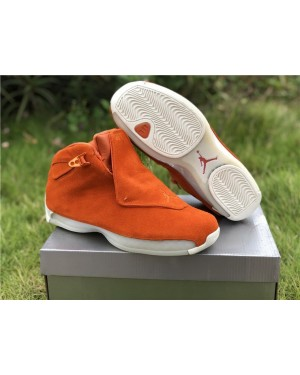 Air Jordan 18 Orange Suède CampFeu Orange Sail Pour Homme FrAirJordan0302-11