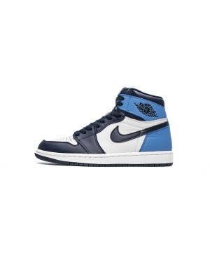 "Air Jordan 1 Retro OG High Sail ""Obsidian Université Bleu"" 555088-140 Hommes FrAirJordan0971-10"